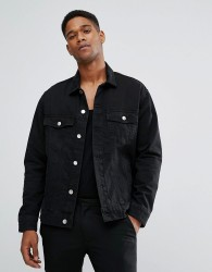 Cheap Monday Oversized Denim Jacket Black - Black