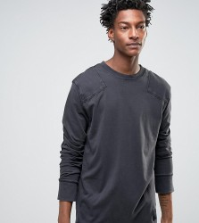 Cheap Monday Yard Long Sleeve T-Shirt Used Wash - Black