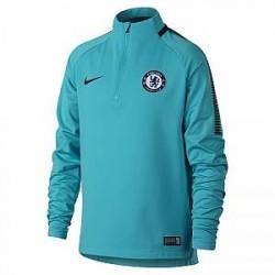 Chelsea FC Dri-FIT Squad Drill-fodboldtrøje til store børn - Blå