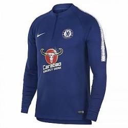 Chelsea FC Dri-FIT Squad Drill-langærmet fodboldtræningstrøje til mænd - Blå