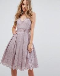 Chi Chi London Cami Strap Midi Dress in Premium Lace - Purple