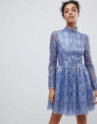 Chi Chi London embellished sequin mini skater prom dress - Purple
