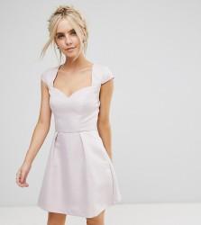 Chi Chi London Petite Sweetheart Mini Dress with Open Back - Pink