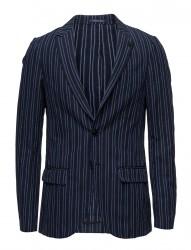Chic Blazer With Peak Lapel In Cotton/ Linen