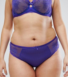 City Chic Celia Thong - Purple