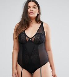 City Chic Dominique Underwired Body - Black