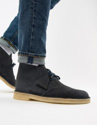 Clarks Originals desert boots in ink suede - Navy