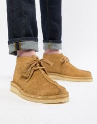 Clarks Originals desert trek boots in oak suede - Beige