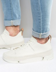 Clarks Originals Trigenic Leather Trainers In White - White