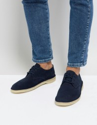 Clarks Suede Desert Crosby Shoes In Navy - Navy