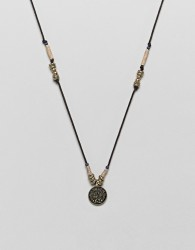 Classics 77 Burnished Silver Necklace With Coin Pendant - Silver