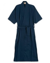 Cleverly Laundry Washed Cotton House Robe Navy men 2 - M Blå