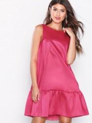 Closet A-Line Gathered Hem Dress Loose fit Pink