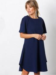 Closet Angel Sleeve Tunic Dress Loose fit dresses Marine