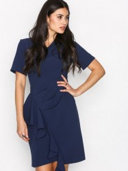 Closet Asymmetric Pleated Dress Loose fit Marine