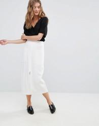 Closet Big Pocket Midi Skirt - Cream