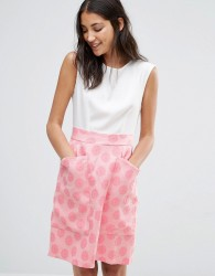 Closet Contrast Jacquard Big Pocket Dress - Multi