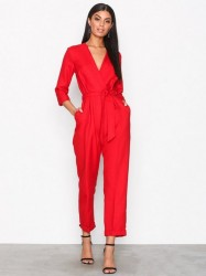 Closet Crossover Jumpsuit Jumpsuits Red