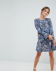 Closet Floral Pephem Dress - Multi
