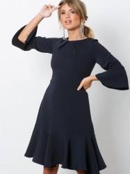 Closet Frill Sleeve A-Line Dress Loose fit Marine