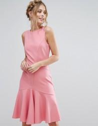 Closet London Midi Dress with Pephem - Pink