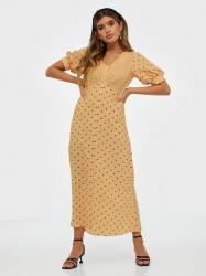 Closet Puff Sleeve VNeck Midi Dress Maxikjoler
