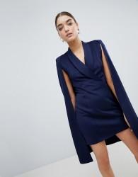 Club L Cape Blazer Dress - Navy
