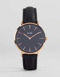 CLUSE CL18001 La Bohème Leather Watch In Black - Black