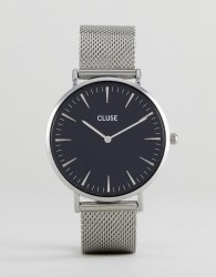 CLUSE CL18106 La Bohème Mesh Watch In Silver - Silver