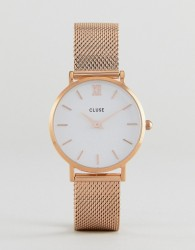 CLUSE CL30013 Minuit Mesh Watch In Rose Gold - Gold