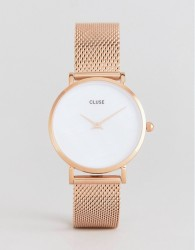 CLUSE CL30047 Minuit La Perle Mesh Watch In Rose Gold - Gold