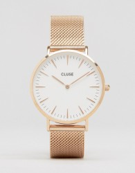 Cluse La Boheme Mesh Rose Gold Watch CL18112 - Gold