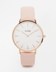 Cluse La Boheme Rose Gold & Pink Leather Watch CL18014 - Pink