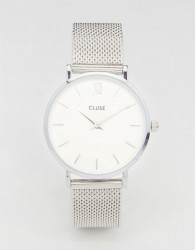 CLUSE Minuit Silver Mesh Watch CL30009 - Silver