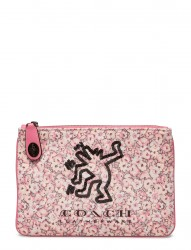 Coach X Keith Haring Print On Print Canvas Turnlock Pouch 26