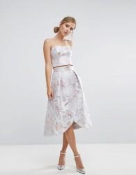 Coast Blake Jacquard Full Skirt - Silver