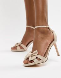 Coast Bow Sandal Heel Shoes - Pink