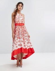 Coast Charron Organza Dress - Red