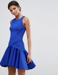 Coast Crysta Peplum Hem Dress - Blue