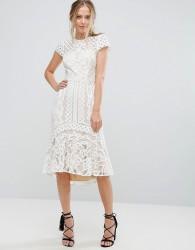 Coast Dee Dee Lace Peplum Dress - White