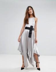 Coast Elvie Halter Dress - Silver