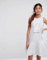 Coast Francesca Skater Dress - Silver