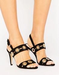 Coast Gold Detail Heeled Sandal - Black