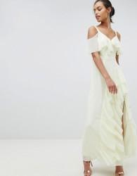 Coast Illy Ruffle Maxi Dress - Yellow