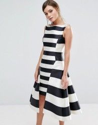 Coast Kady Dramatic Stripe Dress - Multi