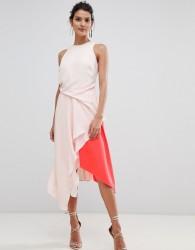 Coast Kai Colourblock Soft Flow Dress - Multi