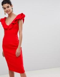 Coast Kora Ruffle Shift Dress - Red