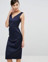 Coast Leticia Heart Neckline Dress - Navy