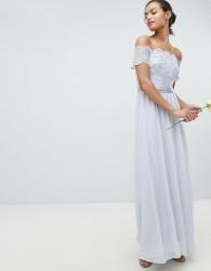 Coast Madelene Embroidered Maxi Dress - Silver