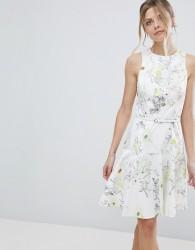 Coast Mezel Floral Print Skater Dress - White
